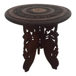 Floral Carved Chai Table