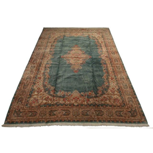Rugsindallas Vintage Persian Design Wool Area Rug: RugsinDallas Vintage Hand Knotted Wool Persian Kerman Rug
