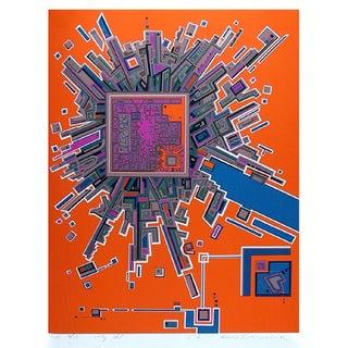 "Risaburo Kimura, ""City 361,"" Serigraph"