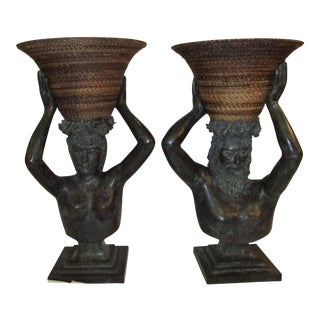 Bronze-Maitland Smith Busts - A Pair