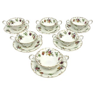 English Soup Cups & Saucers - Set of 6