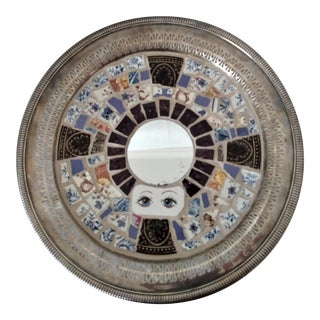Boho Chic Mosaic Tile Round Wall Mirror