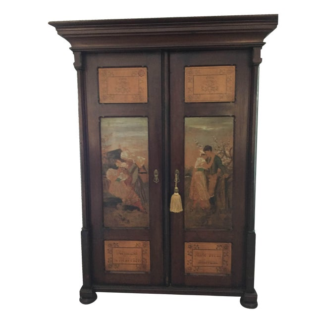 Hand Painted Czech Armoire - Image 1 of 5