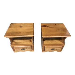 Amish Cedar Nightstands - A Pair