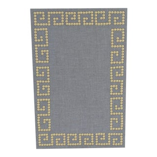 Greek Key Gray Linen Cork Board Ponboard