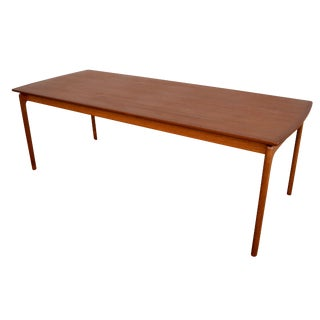 Vintage Danish Modern Teak Coffee Table by Ole Wanscher for Poul Jeppesen