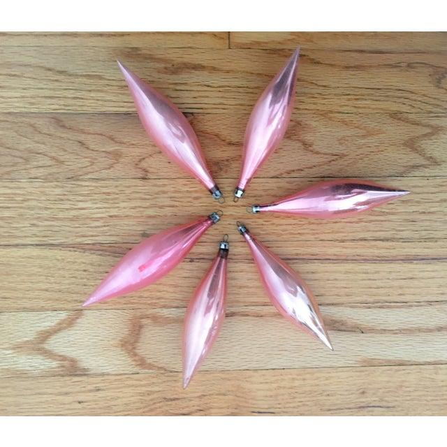 Pink Teardrop Ornaments - Set of 6 - Image 4 of 8