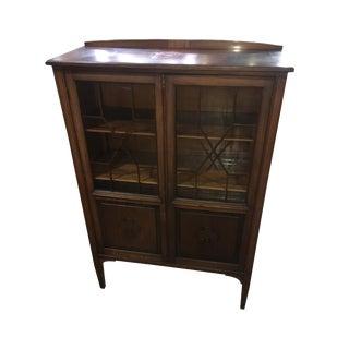 Antique Mahogany China Display Cabinet