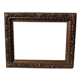 19th Century Hand-Carved & Gilded Frame