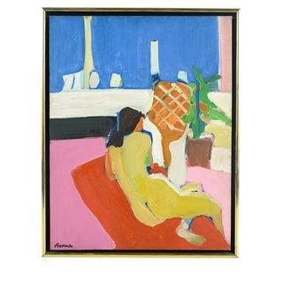 Tadashi Asoma Reclining Woman Oil Painting