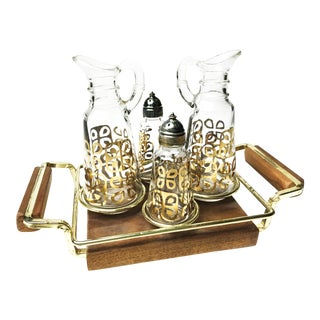Vintage Anchor Hocking Cruet Set