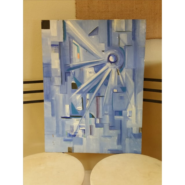 Post Modernist Abstract Acrylic Composition - Image 2 of 4