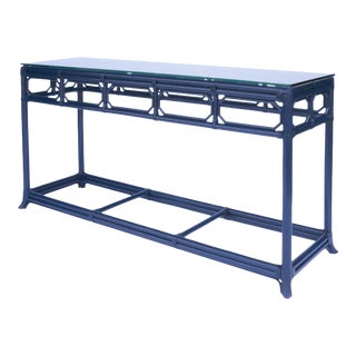 Selamat Designs Regent Blue Console Table