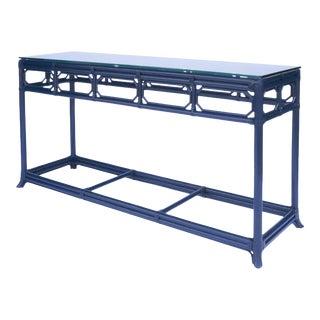 Selamat Designs Regent Blue Console Table