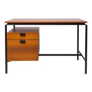 Pierre Paulin steel and oak desk, mfg. Thonet, 1950's