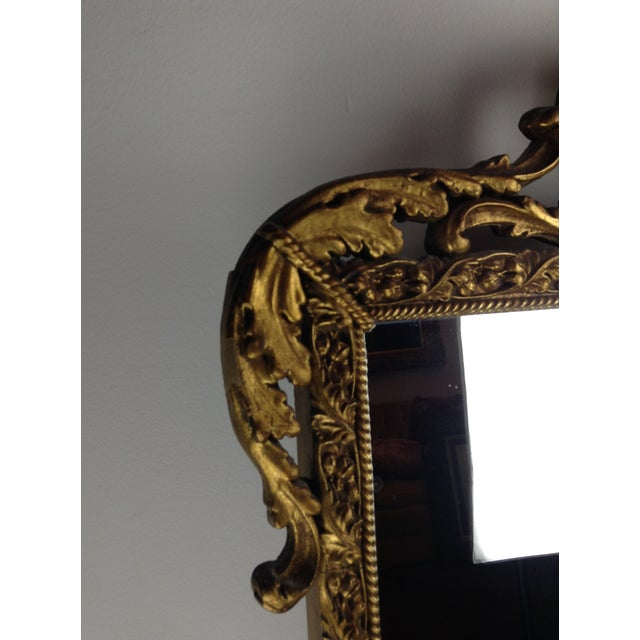 Antique Gilded Ornate Wall Mirror - Image 3 of 9