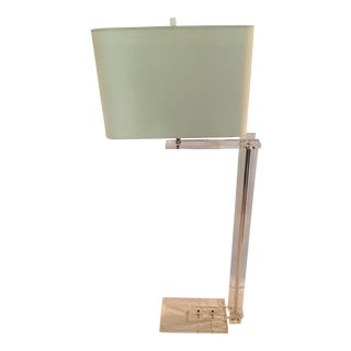 Mid-Century Modern Lucite Floor Lamp With Shade