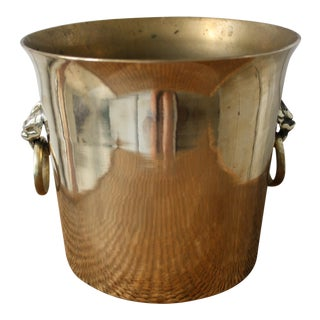 Brass Ice Bucket With Handles