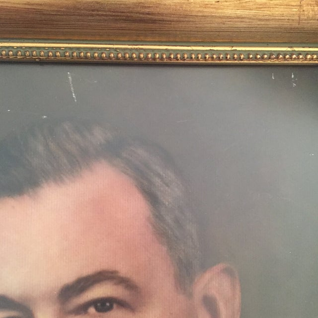 Vintage Framed Portrait Painting of Business Man - Image 7 of 11