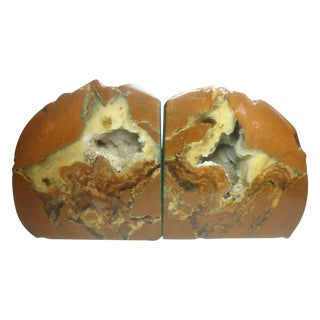 Brown Geode Bookends