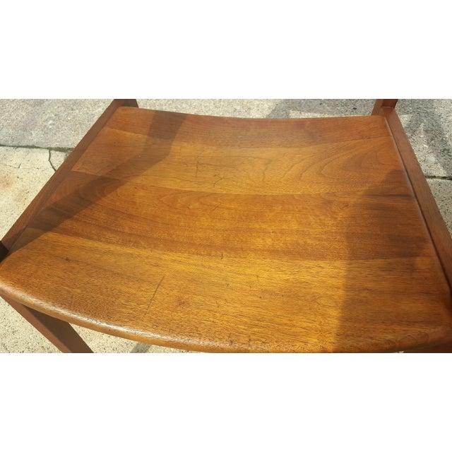 Mid-Century Walnut Gunlocke Chairs - Pair - Image 8 of 11