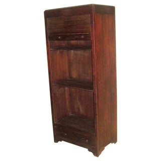 French Colonial 1930 Roll Top Cabinet