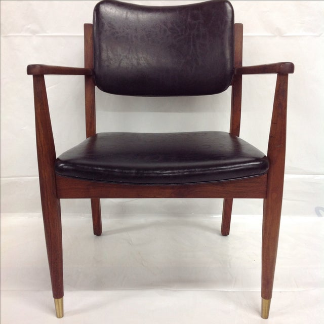Danish Modern Oiled Walnut Executive Chair - Image 4 of 5