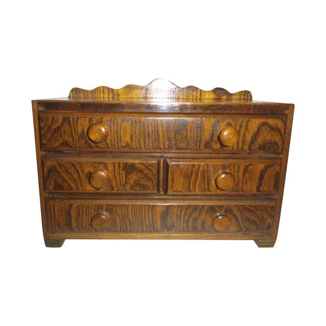 Hand Made Vintage Jewelry Chest - Image 1 of 8