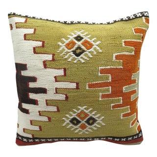 Vintage Turkish Kilim Pillow Cover