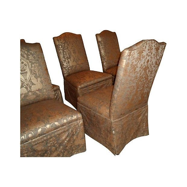 Chic Upholstered Dining Chairs - Set of 6 - Image 2 of 2