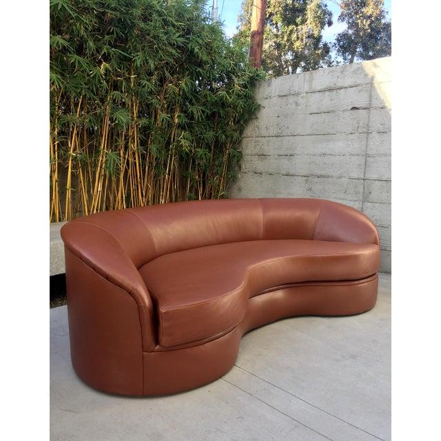 Vladimir Kagan Biomorphic Kidney Bean Shaped Sofa - Image 2 of 9