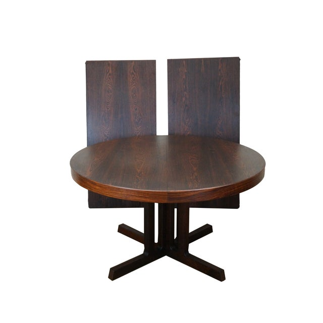 Vintage Danish Modern Rosewood Round Dining Table - Image 1 of 10