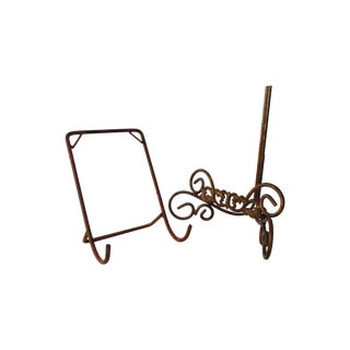 Wrought Iron Easel - A Pair