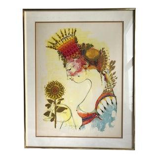 1965 Bjorn Wiinblad Goddess of Juno Framed Poster
