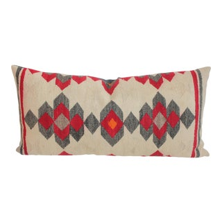 Beautiful Muted Navajo Weaving Bolster Pillow