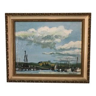 "Patricia Gren Hayes ""Berkeley Old Pier"" Landscape Painting"