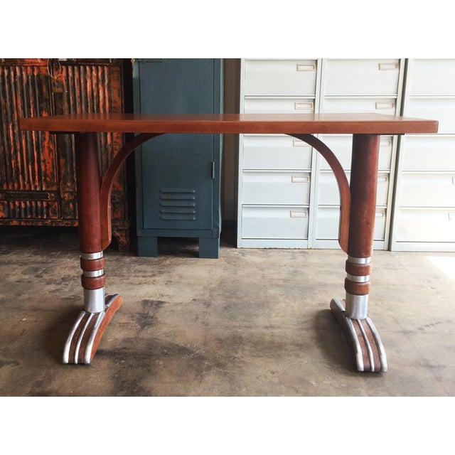 French Art Deco Bistro Dining Table - Image 6 of 11