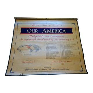 Vintage Wesley Social Studies School Maps - Set of 36