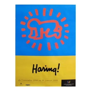 1998 Original Keith Haring Poster, Pop Art Exhibition