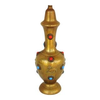 Stone Studded Brass Lamp Base