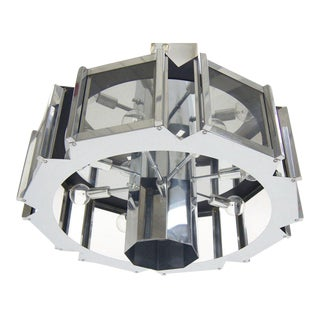 Sonneman Midcentury Chrome Glass Light Fixture