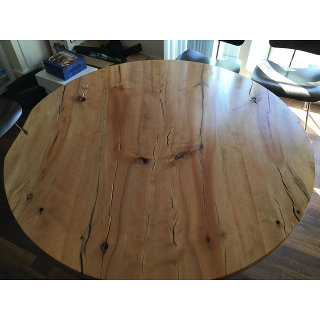 Urban Hardwoods Reclaimed Wood Table W/Eames Base - Image 3 of 3