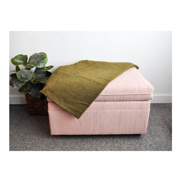 Blush Pink Upholstered Ottoman - Image 3 of 9