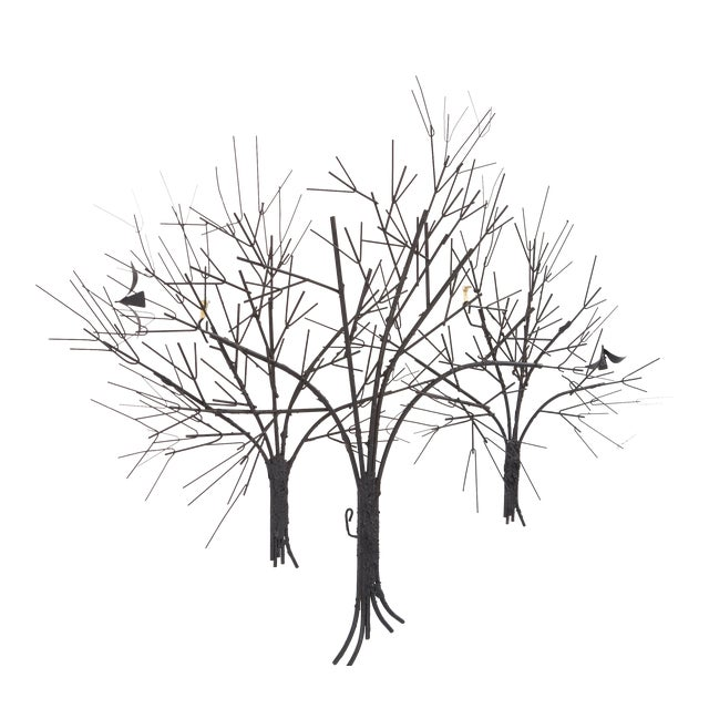 C. Jere Wall Sculpture 'Birds & Trees' - Image 1 of 8