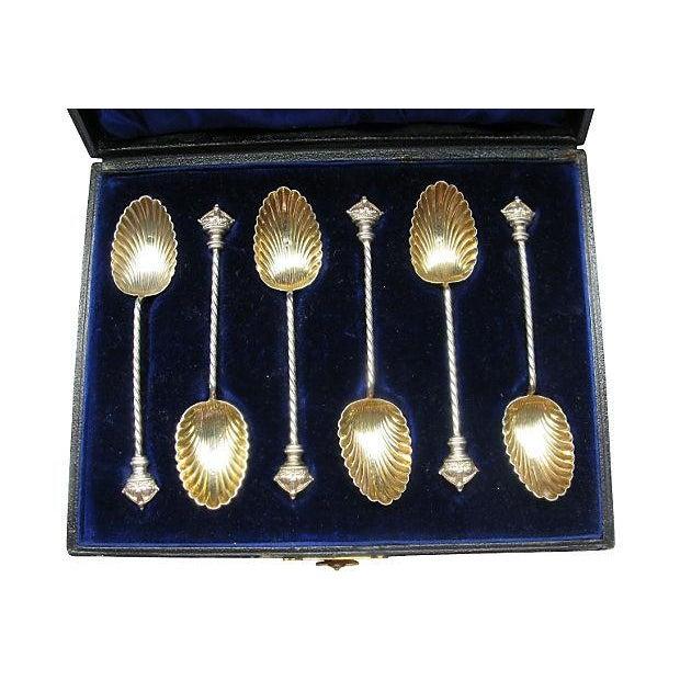 1896 Sterling Silver Crown Teaspoons - S/6 - Image 2 of 5
