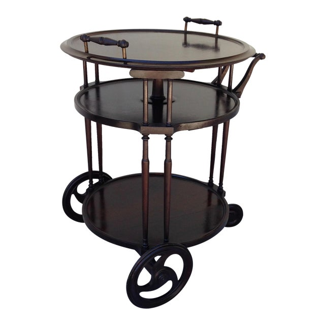 Irving & Casson Antique Wooden Bar Cart - Image 1 of 7