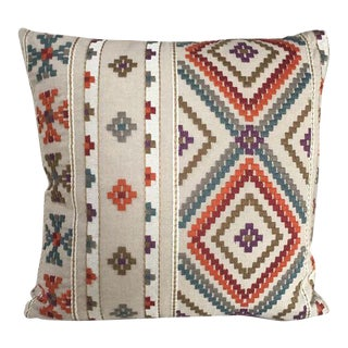 Kim Salmela Embroidered Multi Color Pillow