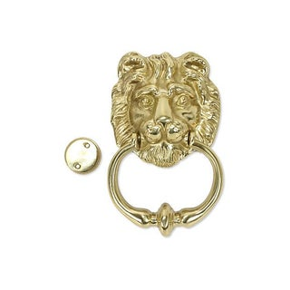 Italian Solid Brass Lion's Head Door Knocker