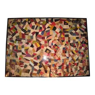 Antique Framed Velvet Quilt