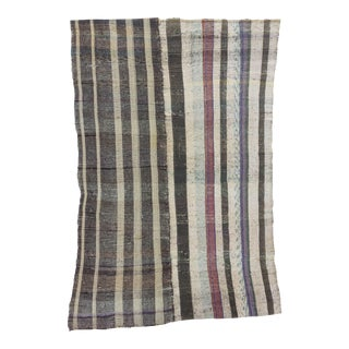 Vintage Striped Turkish Rag Rug - 6′3″ × 9′8″